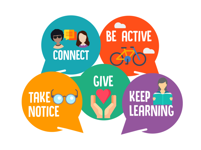 Image result for 5 ways to wellbeing for schools